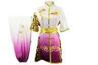 HanCui Chang Quan Competition Uniform, White & Purple Gradient Dragon