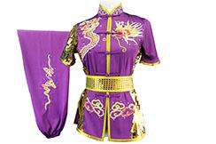 HanCui Chang Quan Competition Uniform, Purple & Gold Dragon