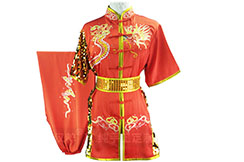 HanCui Chang Quan Competition Uniform, Red & Gold Dragon 1