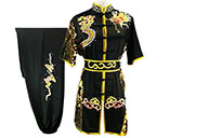 HanCui Chang Quan Competition Uniform, Black & Gold Dragon 5