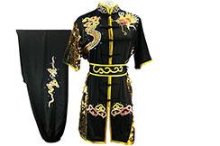 HanCui Chang Quan Competition Uniform, Black & Gold Dragon 5