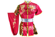 HanCui Chang Quan Competition Uniform, Pink, Gold & Silver Dragon