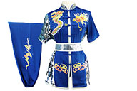 HanCui Chang Quan Competition Uniform, Blue & Silver Dragon 3