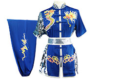 HanCui Chang Quan Competition Uniform, Blue & Silver Dragon 3