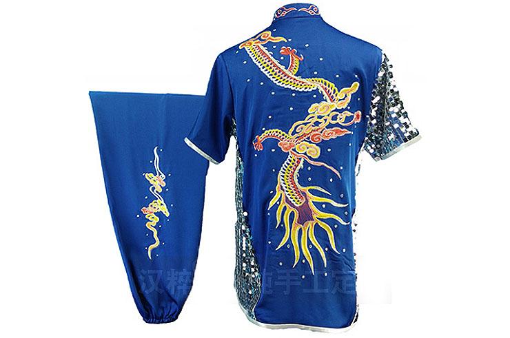 Traje competición Chang Quan HanCui, Dragón Azul y Plata 3