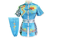 HanCui Chang Quan Competition Uniform, Sky Blue & Silver Dragon