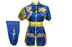 HanCui Chang Quan Competition Uniform, Blue & Gold Dragon 2