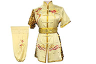 HanCui Chang Quan Competition Uniform, Yellow & Gold Dragon