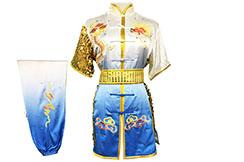 Tenue Compétition Chang Quan HanCui, Dragon Dégradé Blanc & Bleu