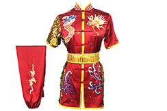 HanCui Chang Quan Competition Uniform, Red & Gold Dragon 2