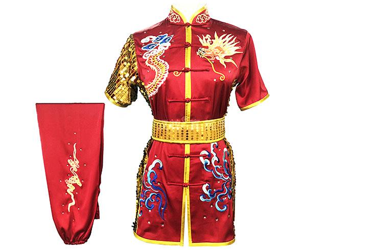 HanCui Chang Quan Competition Uniform, Red & Gold Dragon 2