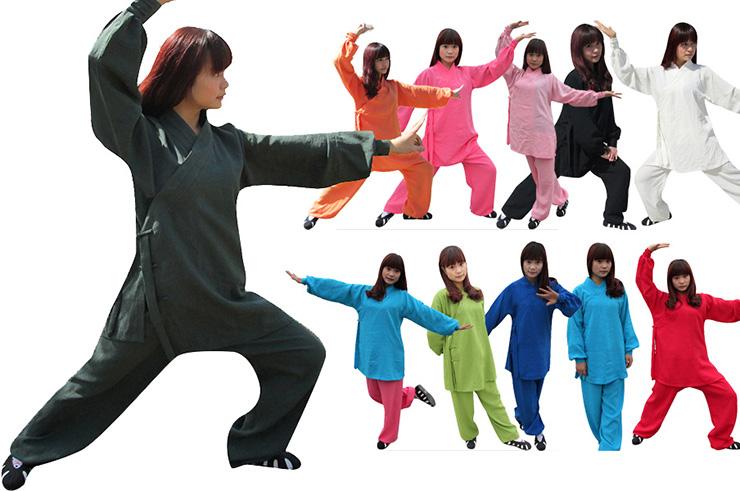 Tenue Wudang Femme Ouverture Diagonale