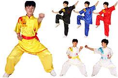 Traje Chang Quan Dragón, Satén