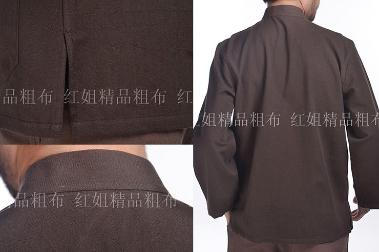 Haut Traditionnel «Tangzhuang» Manches Longues, Coton
