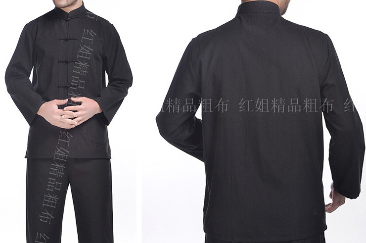 Traditional Top «Tangzhuang» Long Sleeves, Cotton