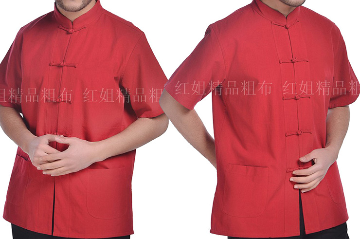 Haut Traditionnel «Tangzhuang» Manches Courtes, Coton