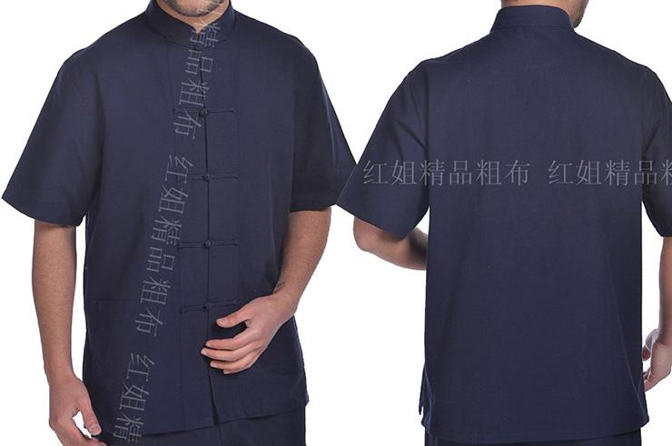 Top tradicional 'Tangzhuang' Mangas Cortas, Dooyun