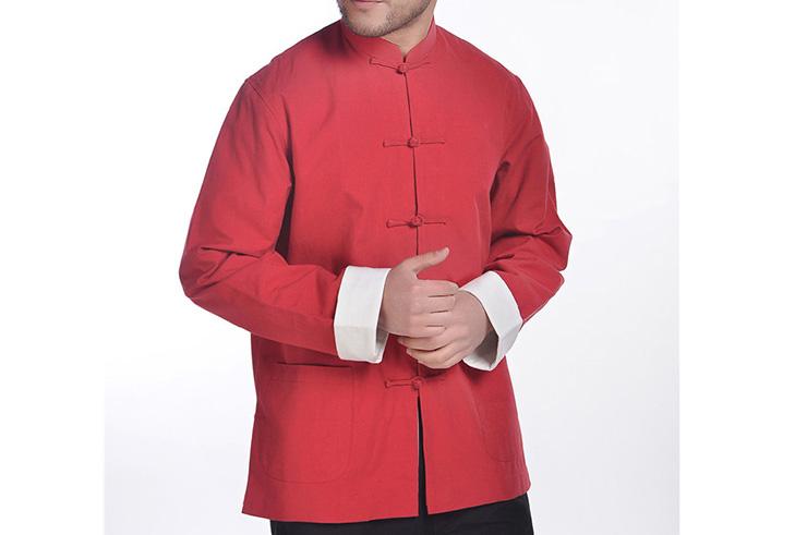 Haut Traditionnel «Tangzhuang» Avec Revers, Doublée, Coton