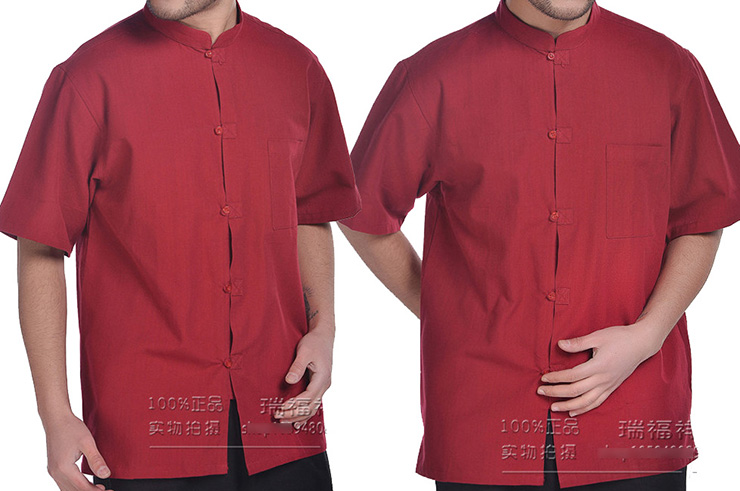 Chemise Chinoise Manches Courtes, Coton