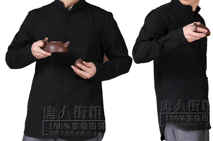 Chemise Chinoise Manches Longues, Coton