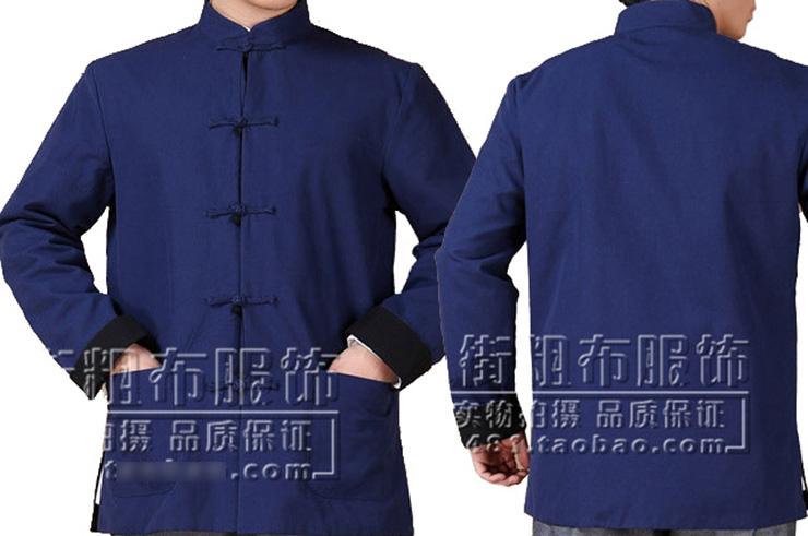 Haut Traditionnel «Tangzhuang» Manches Longues, Réversible