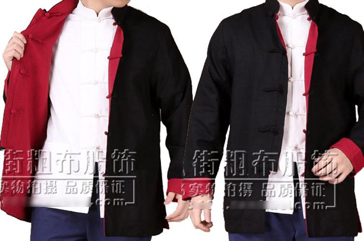 Top tradicional «Tangzhuang» Mangas Largas, Reversible