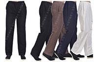 Pantalon «Tangzhuang» Poche Côtés, Coton 1