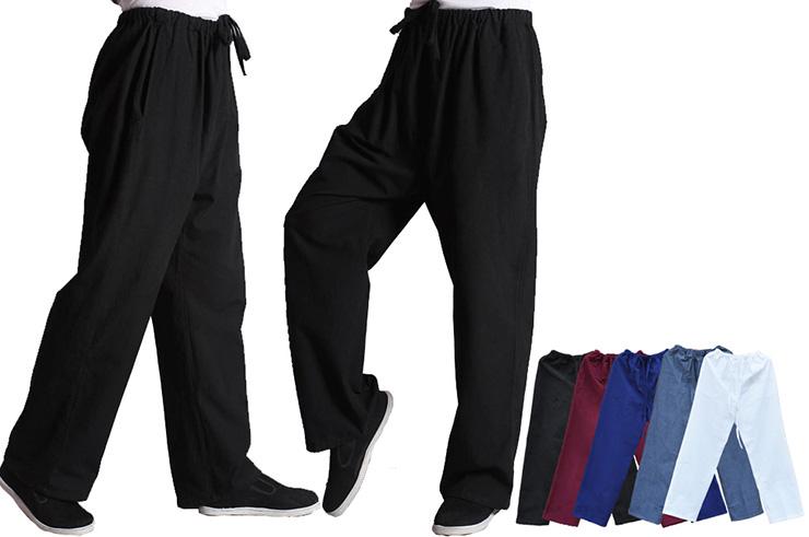 Pantalon «Tangzhuang» Poche Côtés, Coton 2