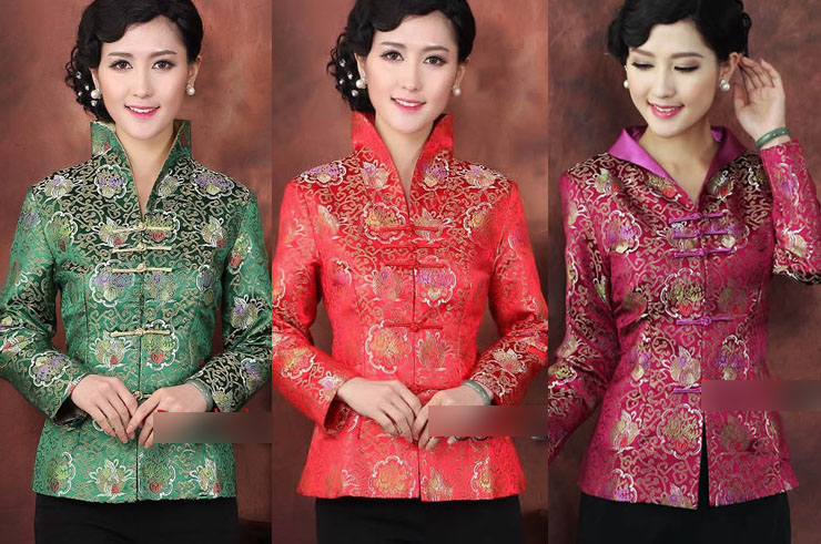 Haut Traditionnel «Tangzhuang» Femme 4, Dooyun