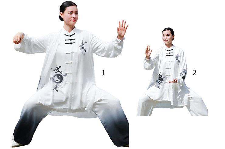 Traje de Taiji ZhengFengHua, YinYang con velo