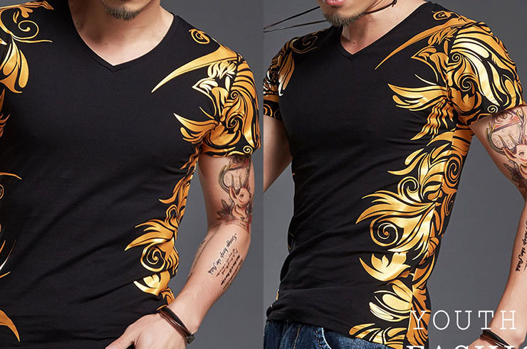 T-shirt Tribal sérigraphie extensible