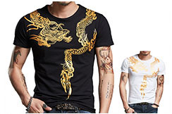 Dragon Sceen Printing T-shirt 1, Extensible