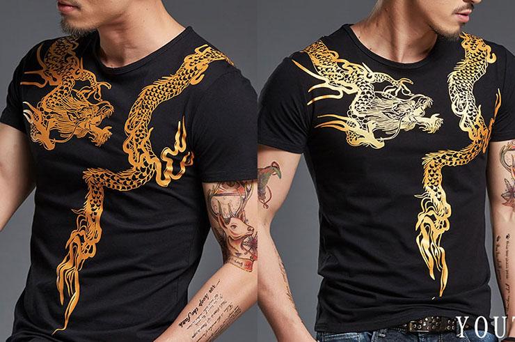 T-shirt Dragon sérigraphie 1