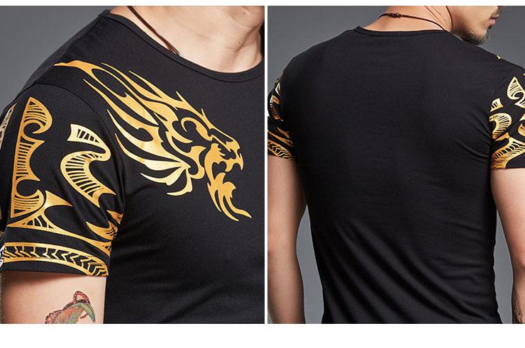 T-shirt Dragon sérigraphie 4, Extensible