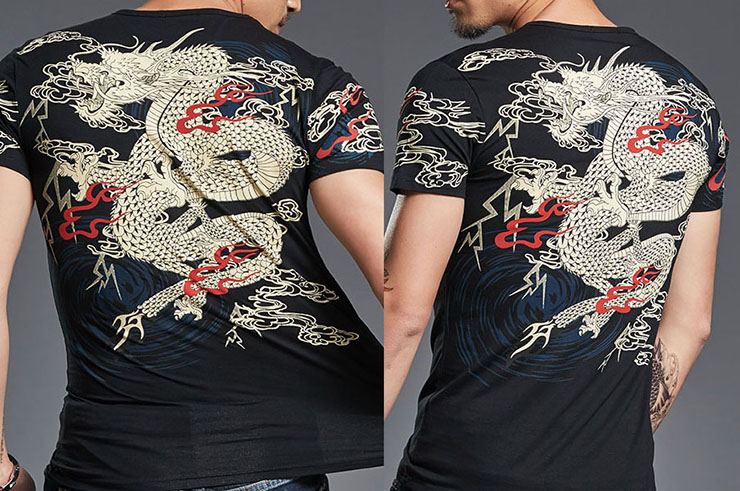 Dragon Sceen Printing T-shirt 6, Extensible