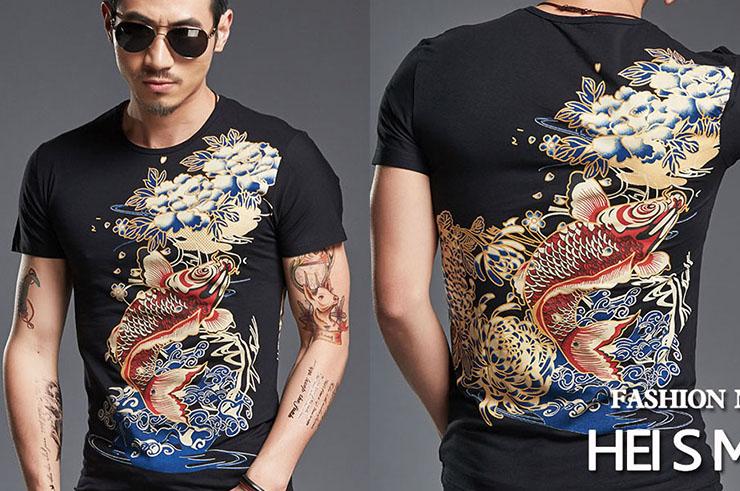 T-shirt Poisson sérigraphie , Extensible