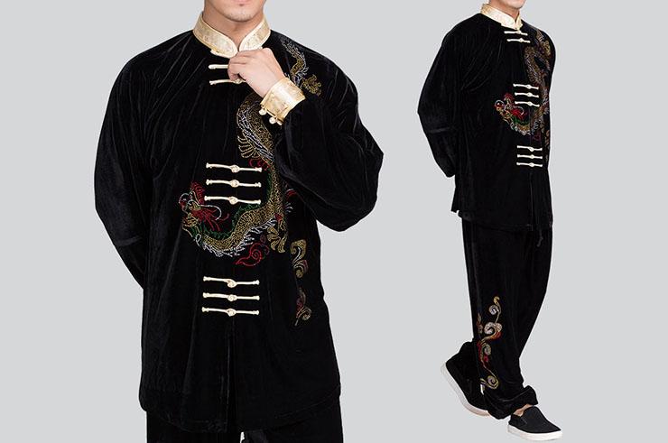 Tenue Taiji Guyun, Dragon avec Velours
