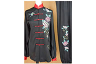 Tai Chi Uniform Embroidered Flower 7