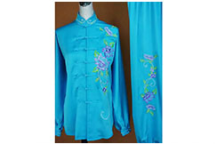 Tai Chi Uniform Embroidered Flower 11