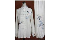 Tai Chi Uniform Embroidered Wild Crane