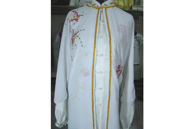 Tai Chi Cloak Embroidered Flower 1