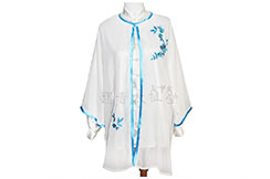 Tai Chi Cloak Embroidered Flower 2