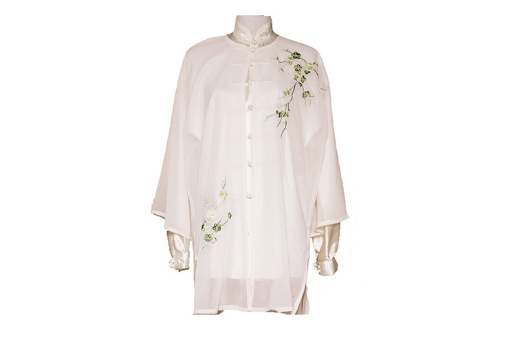 Tai Chi Cloak Embroidered Flower 4