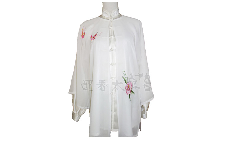 Tai Chi Cloak Embroidered Flower 5