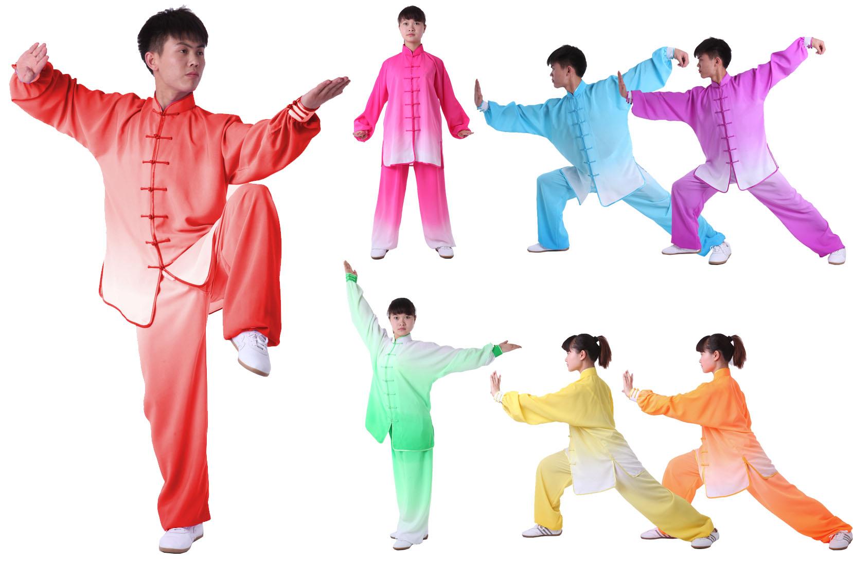 Tenue Tai Chi Dégradé Bicolore, imitation soie