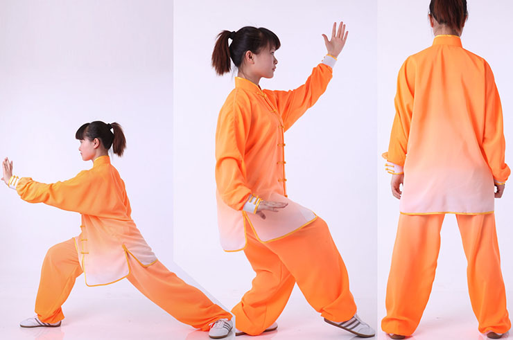 Tai Chi Uniform, Gradient Tones, Bicolor, Imitation soie