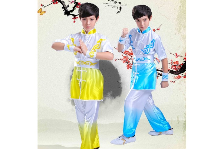 Tenue Chang Quan Dégradé Bicolore, imitation soie