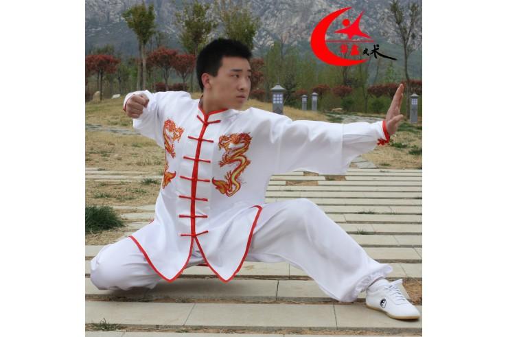 Taiji Uniform with Double Dragon «Hua Xin »