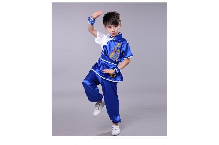 Traje Chang Quan 'Dragón Doré' Azul