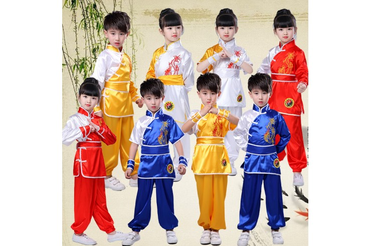 Tenue Chang Quan «Dragon Doré» Bleu